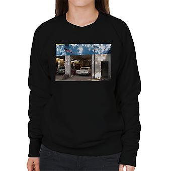 Chevrolet Impala At The Auto Shop Women's Sweatshirt