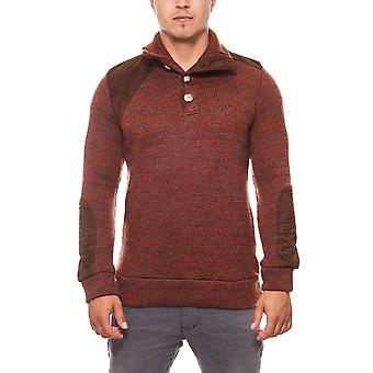 Tazzio fashion Emimay men's knit sweater red buttons
