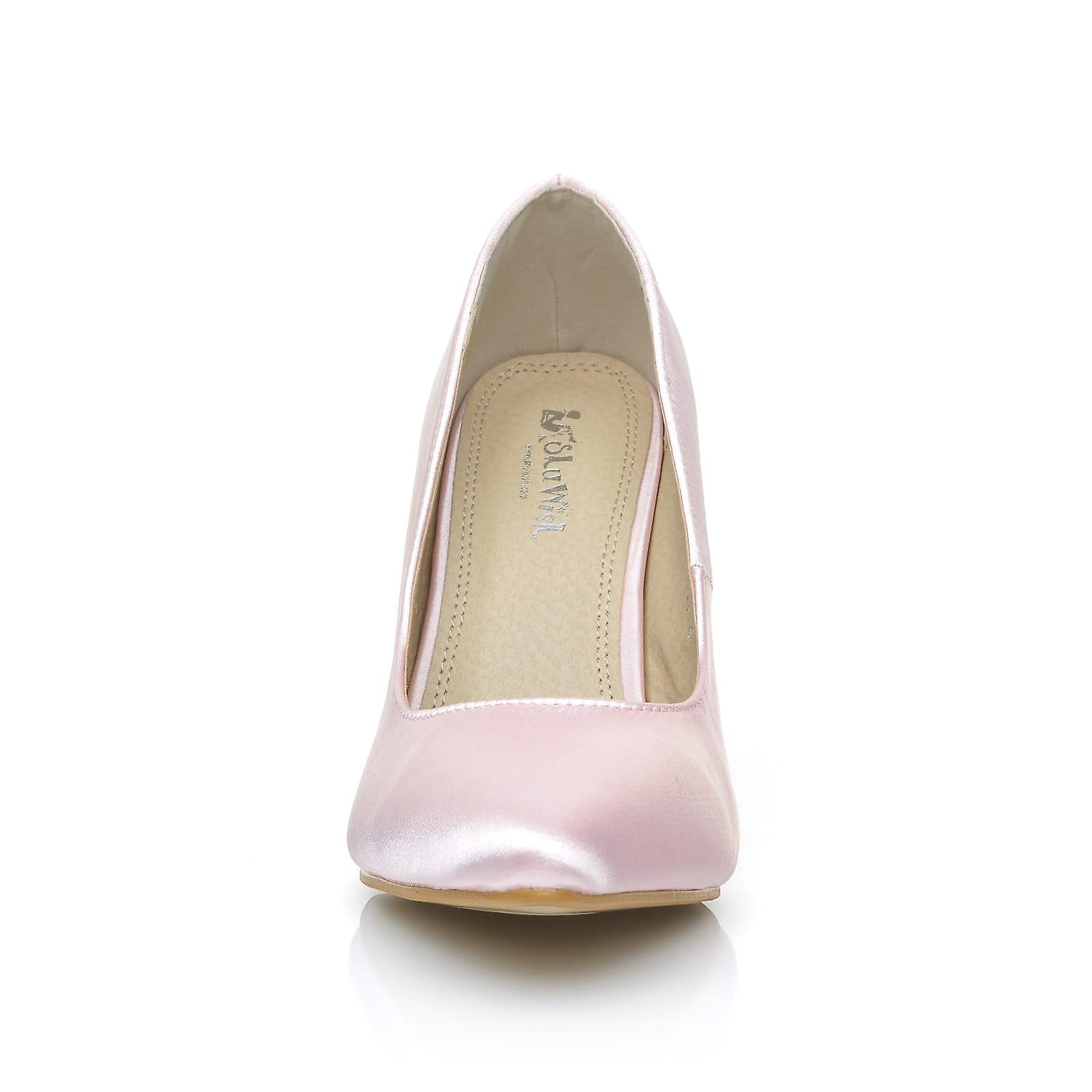 DARCY Baby Pink Satin Stiletto High High High Heel Pointed Bridal Court Shoes 3ef887