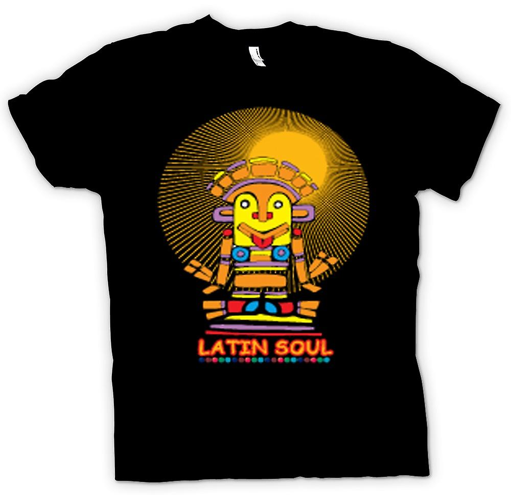 Mens T-shirt-Latin Soul Maya Azteken Design