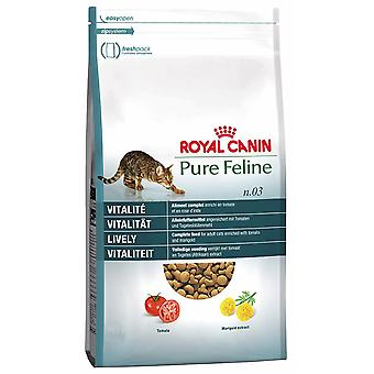 Royal Canin Pure Feline No 3 Lively Cat Food Dry Mix 300 g (Pack of 4)