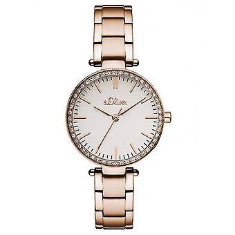 s.Oliver Damen Uhr Armbanduhr Edelstahl SO-3159-MQ