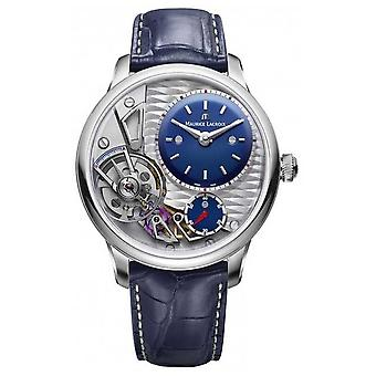 Maurice Lacroix Masterpiece Gravity 25th Anniversary Blue Leather Strap MP6118-SS001-434-1 Watch