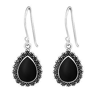 Drop - 925 Sterling Silver Plain Earrings - W25885x