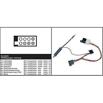 AIV 41C603 ISO Autoradio Kabel (aktive) kompatibel mit (Automarke): Skoda, Volkswagen