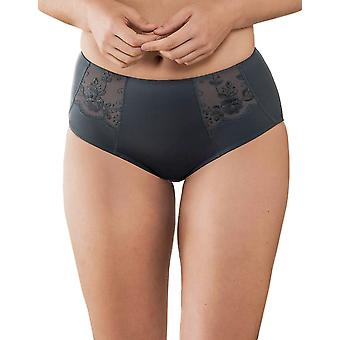 Anita Comfort 1514-408 Women's Amica Anthracite Grey Floral Embroidered Full Panty Highwaist Brief