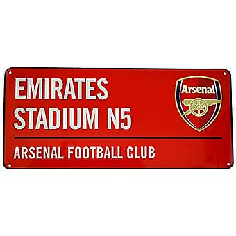 Arsenal Fc Emirates Stadium rød metall Street Logg