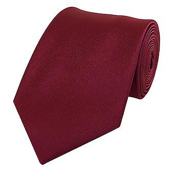 Schlips Krawatte Krawatten Binder 8cm bordeaux weinrot uni Fabio Farini