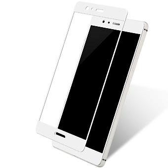 Huawei mate 10 3D armoured glass foil display 9 H protective film covers case white