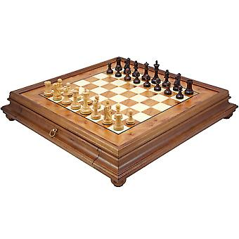 Supreme Rosewood and Briarwood Traditional Chess Set