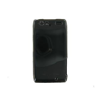 Verizon High Gloss Cover in Silicone per Motorola DROID RAZR MAXX - nero