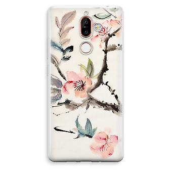 Nokia 7 Plus Transparent Case - Japenese flowers