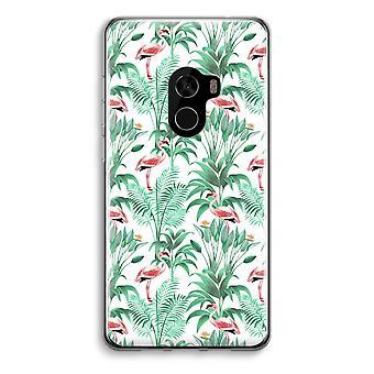 Xiaomi Mi Mix 2 Transparent Case (Soft) - Flamingo leaves