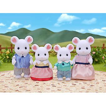 Les familles sylvanian famille de souris guimauve
