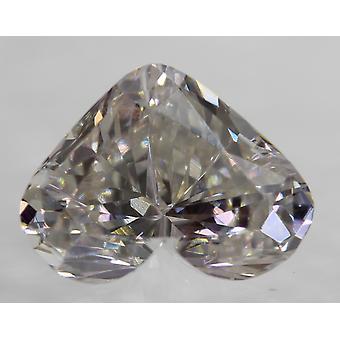 Certified 1.52 Carat G VVS2 Heart Enhanced Natural Loose Diamond 8.8x6.55mm 2VG