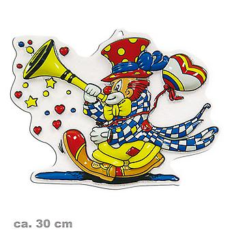 Wall decorations clown with trumpet party birthday Carnival