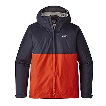 Patagonia Torrentshell Jacket - Navy Blue W/ Paintbrush Red