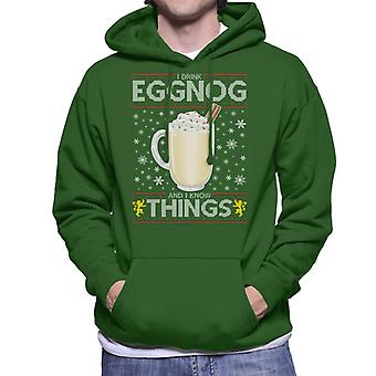 Game Of Thrones I Drink Eggnog And Know Things Men's Hooded Sweatshirt