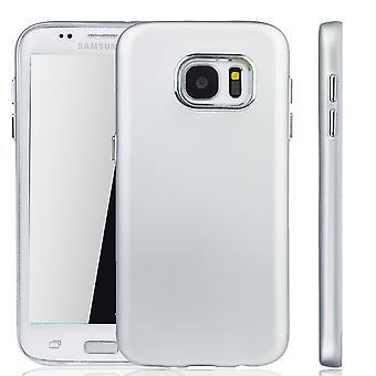 Samsung Galaxy S7 Edge Hülle - Handyhülle für Samsung Galaxy S7 Edge - Handy Case in Silber