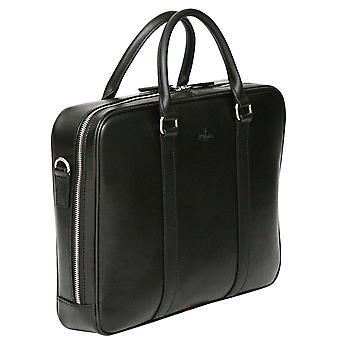 S Babila Saffiano-Leder Aktentasche Laptop Businesstasche mit Tablet-Tasche
