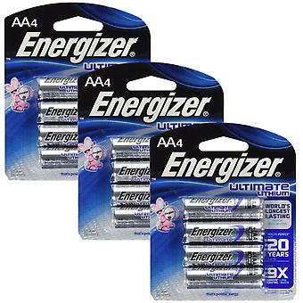 Energizer L91 (3 Packs) Ultimate Lithium Battery AA Size