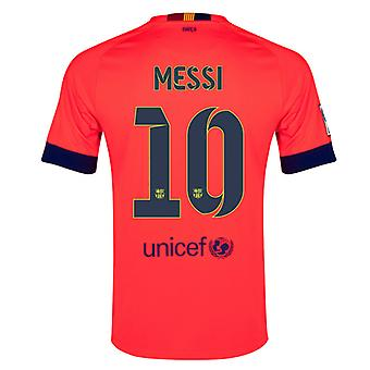 2014-15 Barcelona Away skjorta (Messi 10)