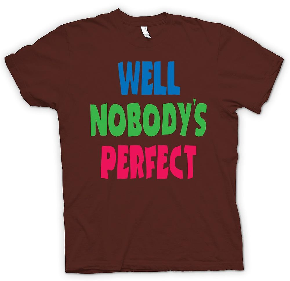 Heren T-shirt - goed Nobodys Perect - Some Like It Hot