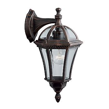 Searchlight 1563 Capri Rustic Brown Hanging Small Outdoor Wall Light