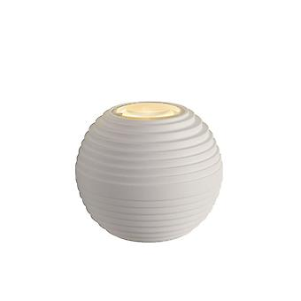 Lucide Ayo Modern Round Aluminum White Wall Light