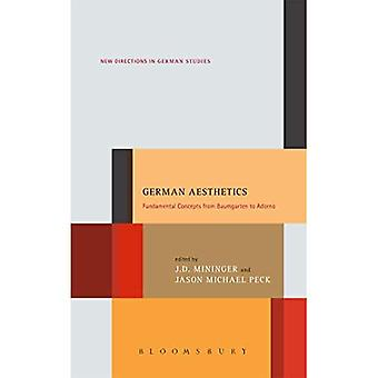German Aesthetics: Fundamental Concepts from Baumgarten to Adorno (New Directions in German Studies)