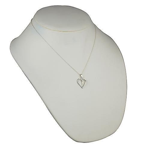 Silver 18x18mm initial M in a heart Pendant with a rolo Chain 16 inches Only Suitable for Children