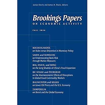 Brookings Papers on Economic Activity: tomber, 2016