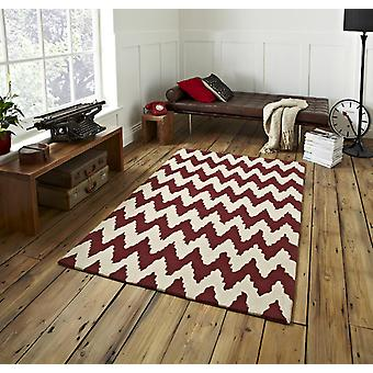 HK867 Rust Biege  Rectangle Rugs Funky Rugs
