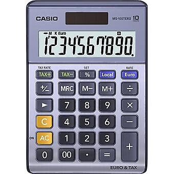 Casio MS-100TERII Desk calculator Purple-grey Display (digits): 10 solar-powered, battery-powered (W x H x D) 103 x 29 x 147 mm