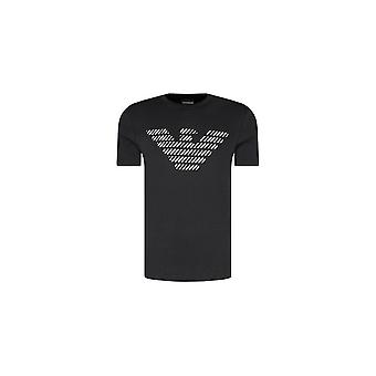 Emporio Armani bomuld trykt Eagle Logo sort T-shirt