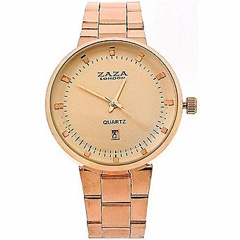 Zaza Londra Gents Date Rose Gold Tone Dial & Strap Metal Dress Watch MMB640