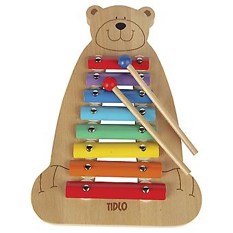 Tidlo Children's Wooden Musical Bear Xylophone - Music Instrument