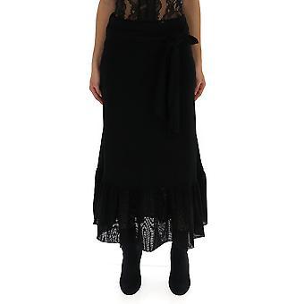 Ganni Black Nylon Skirt