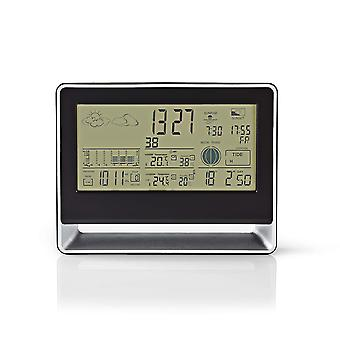 Nedis Weather Station | Wireless Sensor | Alarm Clock | Weather forecast WEST405BK