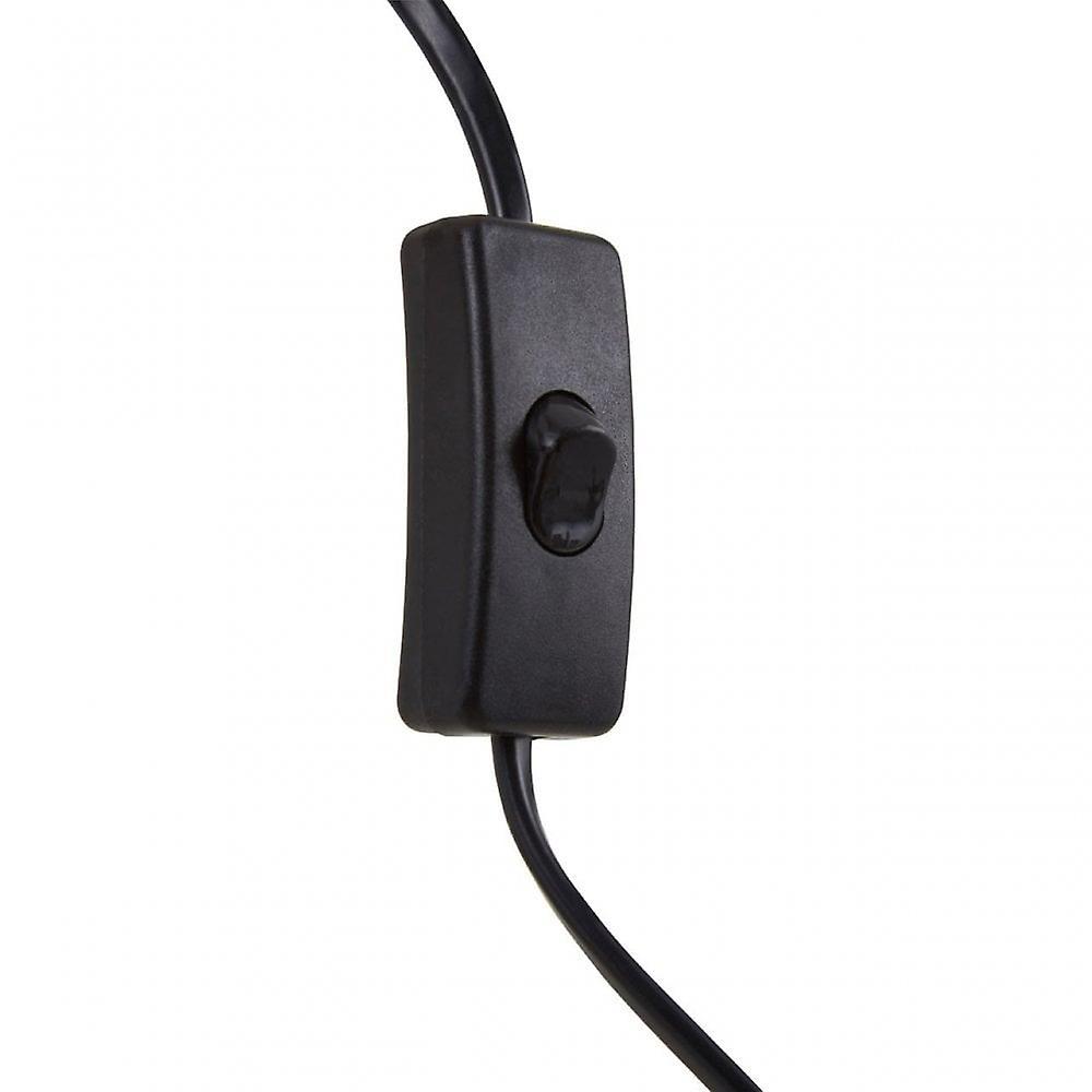 Premier Home Jasper Table Lamp - EU Plug, Metal, Black