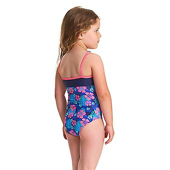 Zoggs Girls Kona Classic Back One Piece Maillot de bain - Navy/Multi