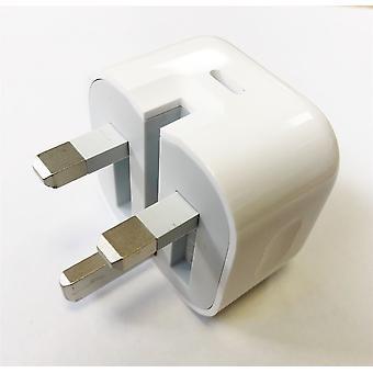 Offizielle Echte Apple A1696 MU7W2B/A 18W UK 3 Pin USB Typ C Ladegerät Kopf Stecker Netzteil für iPad Pro (USB-C) - weiß (Bulk verpackt)
