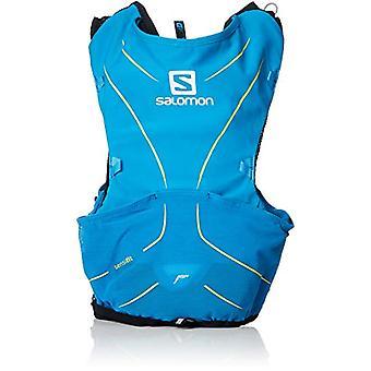 Salomon L40410500 ADV Skin 5 Light Water Backpack Set for Running/Hiking - 5 l - Blue (Hawaiian Surf/Night Sky) - XL