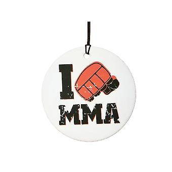 I Love MMA Car Air Freshener