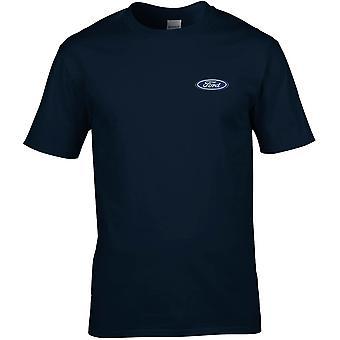 Ford Motorcar Car Embroidered Logo - Cotton Premium T-Shirt