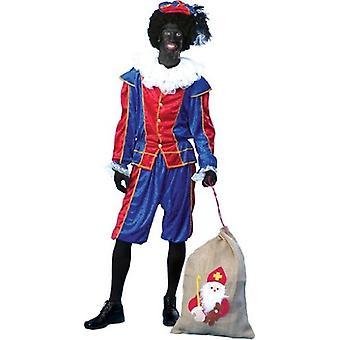 Zwart Piet Noir Peter Costume Serviteur Ruprecht Nikolaus Costume Homme