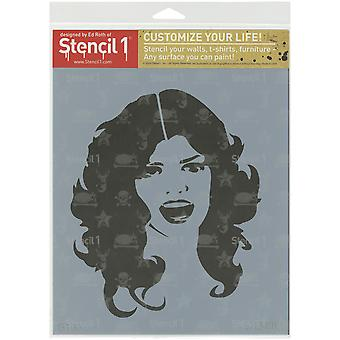 Gabarit1 8.5 « X 11 » pochoir-Glam Girl S1-85 X 11-10