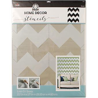 FolkArt Home Decor Wall Stencil-Chevron HDCWALL-34968