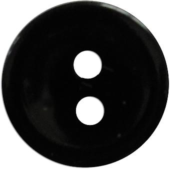 Slimline Buttons Series 1 Black 2 Hole 9 16