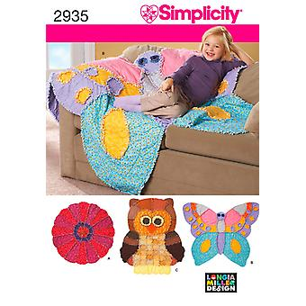 Simplicity Rag Quilts One Size U02935os